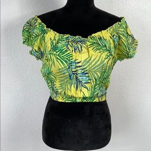 🔥5/$20 [ MIDNIGHT SKY ] Tropical Crop Top